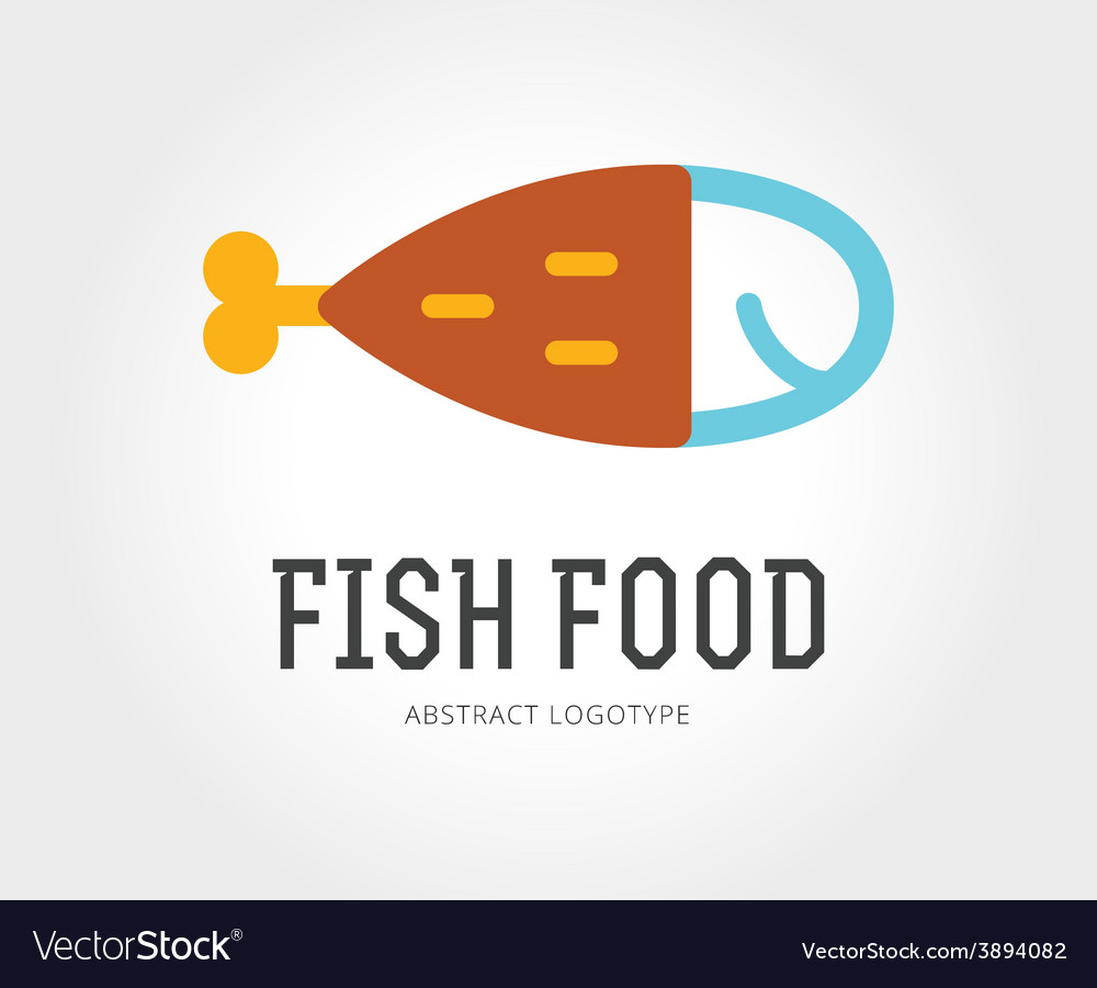 Abstract fish logo template for branding vector | Price: 1 Credit (USD $1)