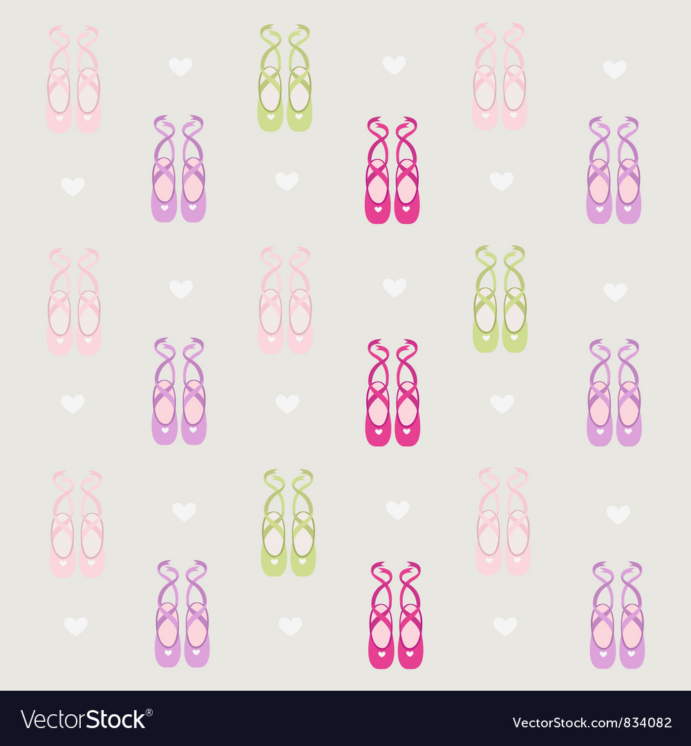 Ballerina shoes background vector | Price: 1 Credit (USD $1)