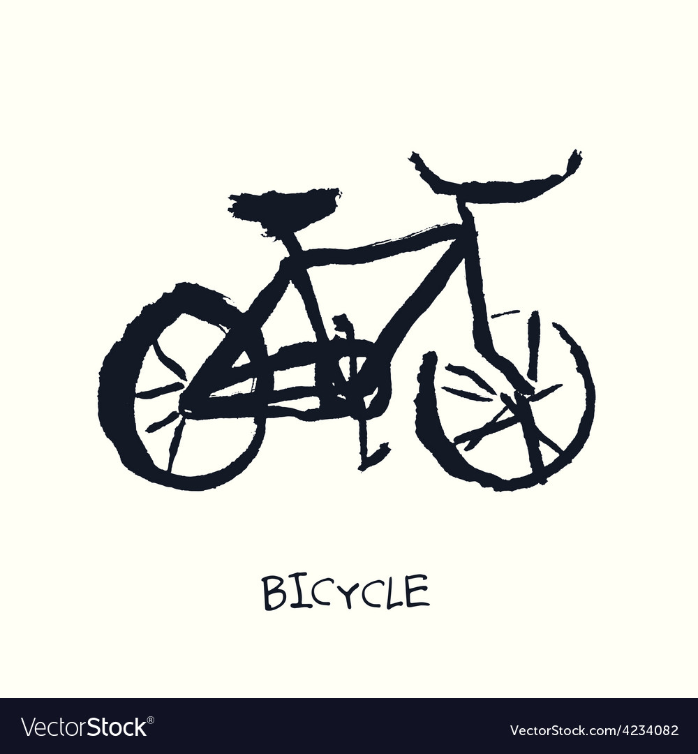 Bicycle hand drawn vector | Price: 1 Credit (USD $1)