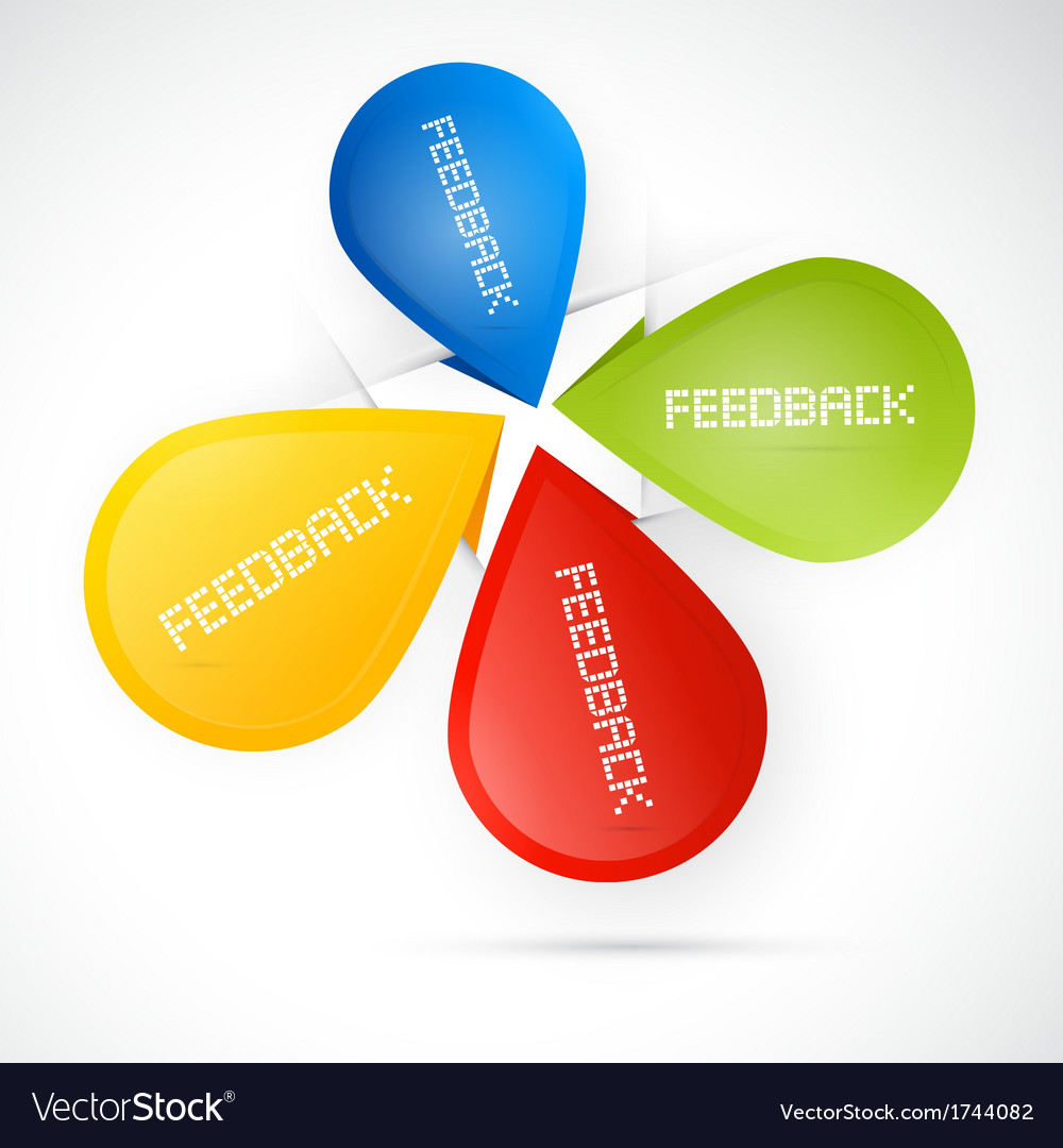 Colorful feedback icons - stickers vector | Price: 1 Credit (USD $1)