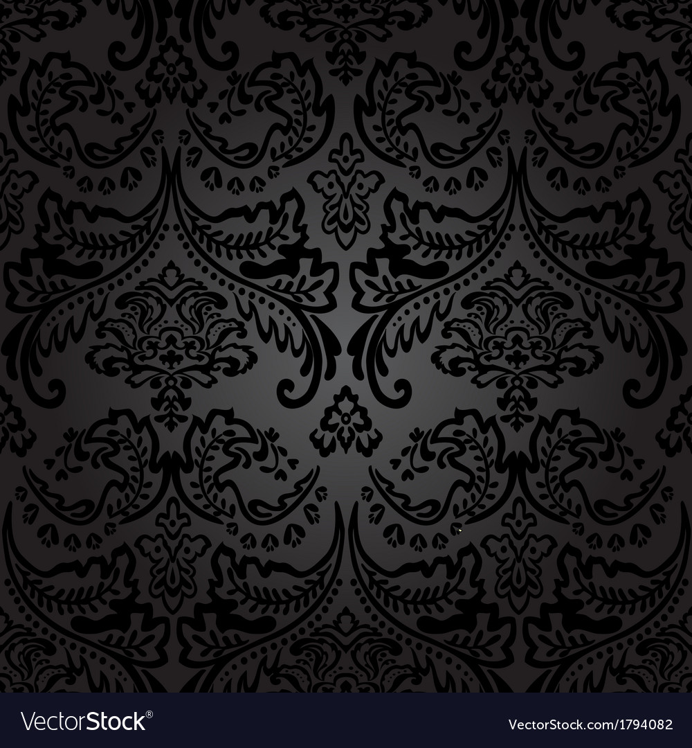 Damask vintage floral seamless pattern background vector | Price: 1 Credit (USD $1)