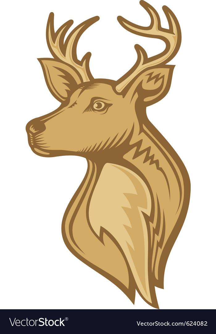 Deer head vector | Price: 1 Credit (USD $1)