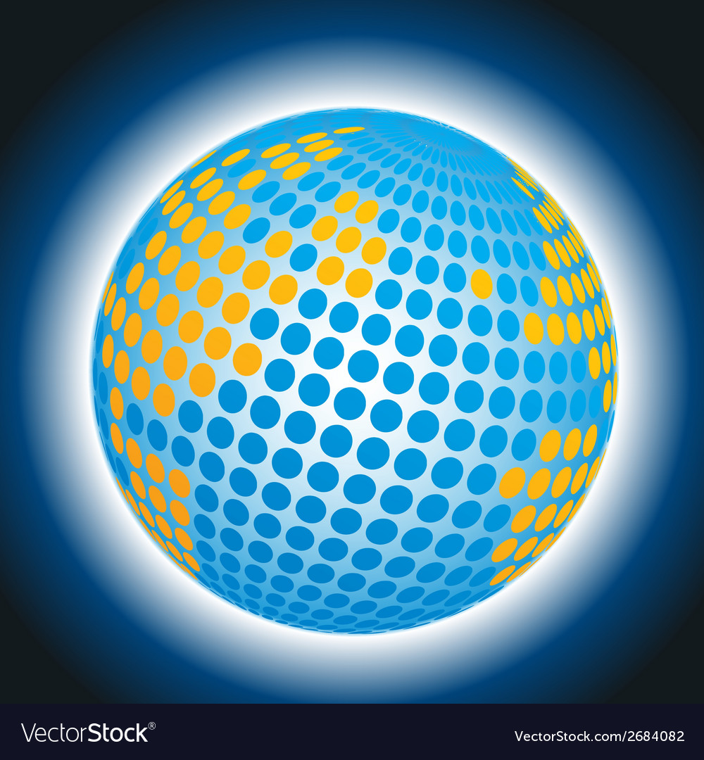 Earth with doted abstract globe background vector | Price: 1 Credit (USD $1)