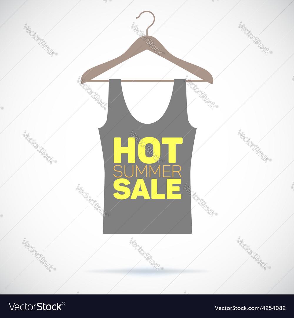 Hanger hot summer sale poster vector | Price: 1 Credit (USD $1)