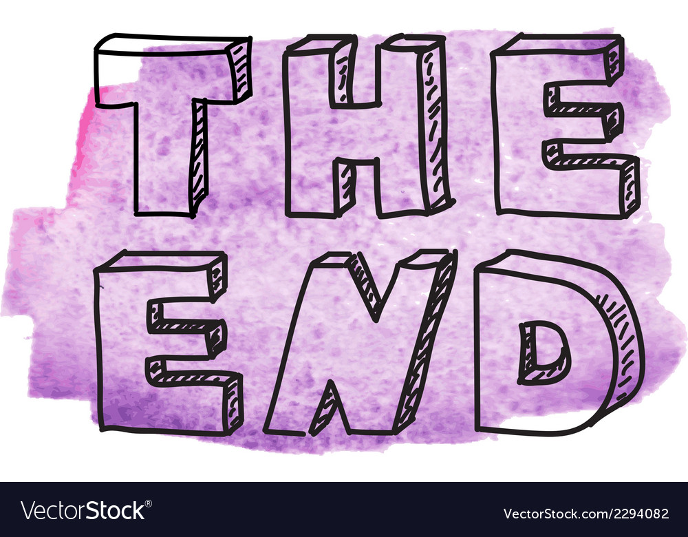 Inscription the end vector | Price: 1 Credit (USD $1)