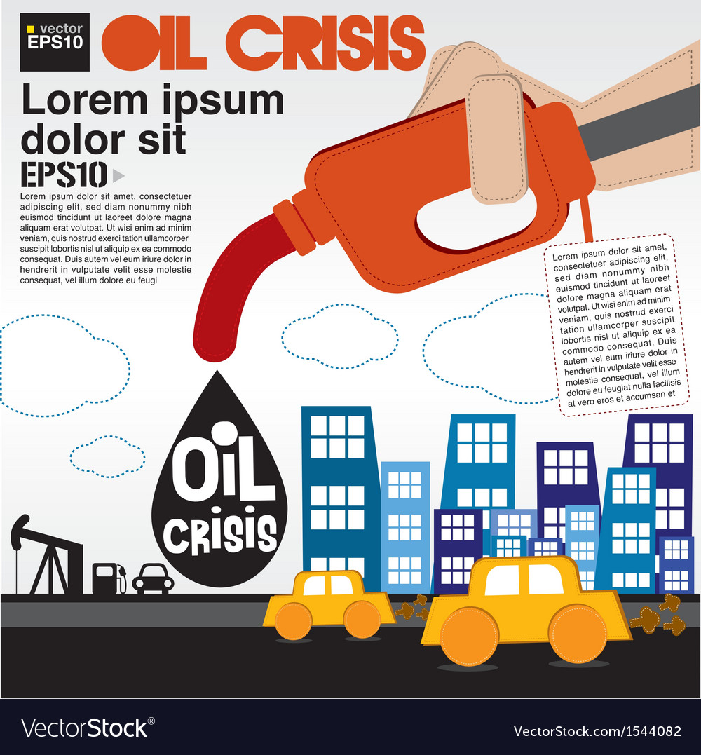 Oil crisis concept eps10 vector | Price: 1 Credit (USD $1)