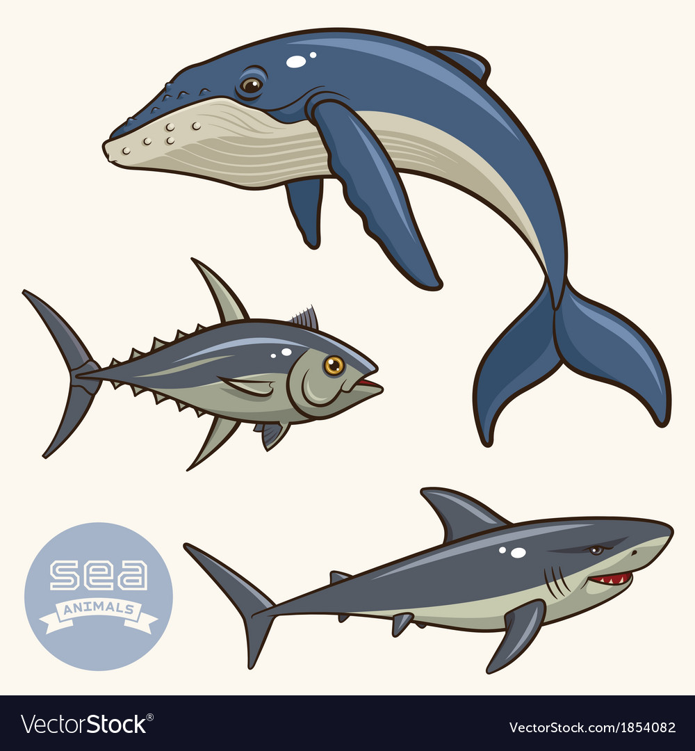 Sea animals set 2 vector | Price: 3 Credit (USD $3)