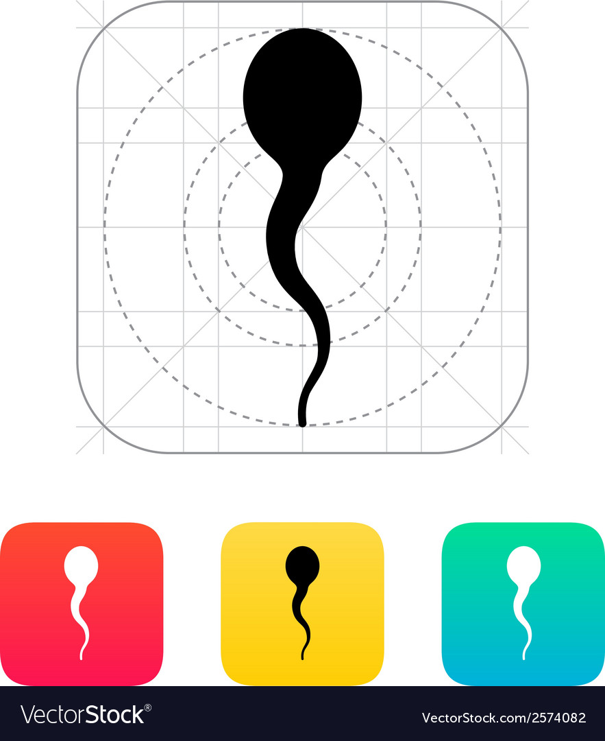 Spermatozoid icon vector | Price: 1 Credit (USD $1)