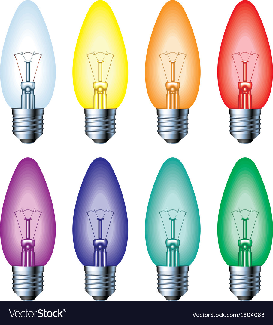 Color light bulb vector | Price: 1 Credit (USD $1)