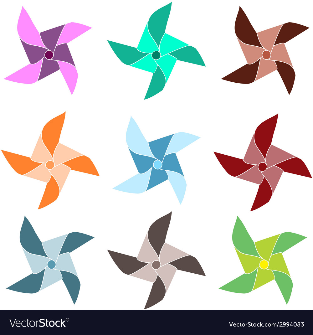 Colorful pinwheels vector | Price: 1 Credit (USD $1)