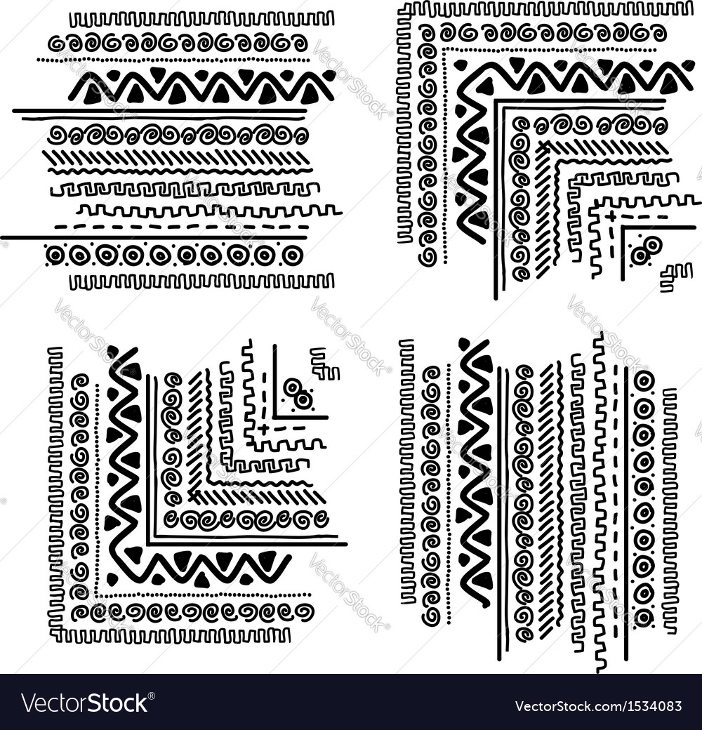 Design elements with ethnic handmade ornament vector | Price: 1 Credit (USD $1)