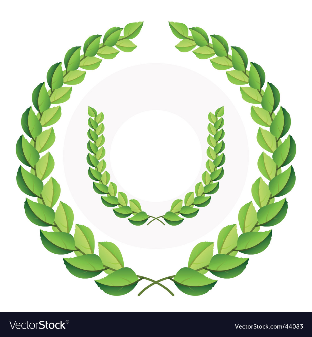 Green laurel wreath vector | Price: 1 Credit (USD $1)