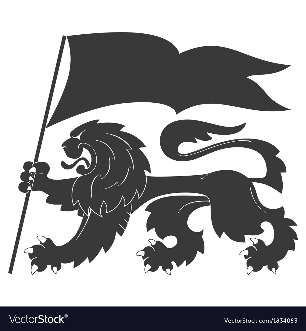 Heraldic lion33 vector | Price: 1 Credit (USD $1)