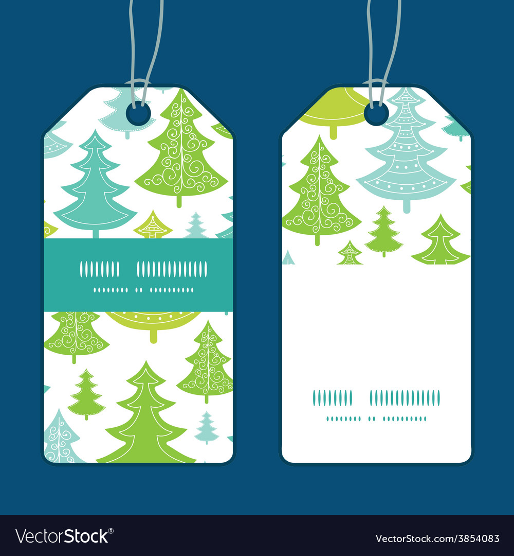 Holiday christmas trees vertical stripe vector | Price: 1 Credit (USD $1)