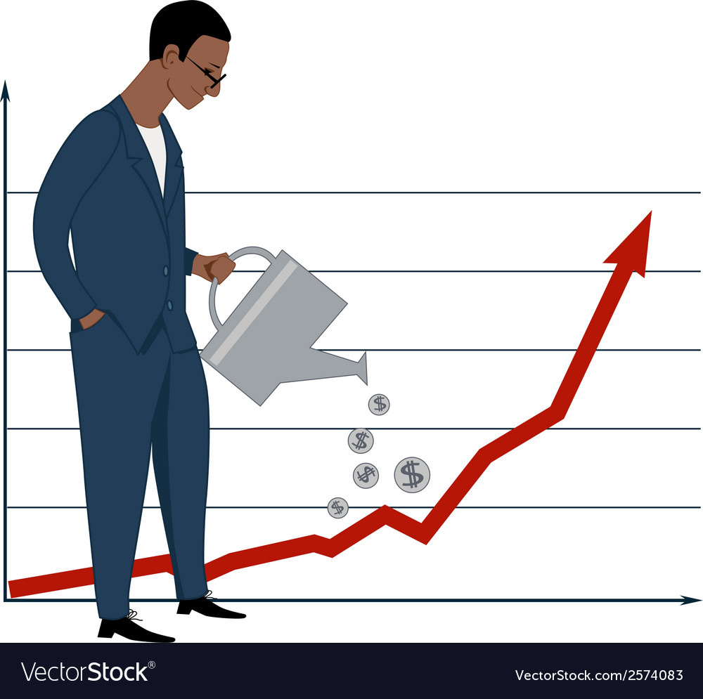 Investing in stock market vector | Price: 1 Credit (USD $1)