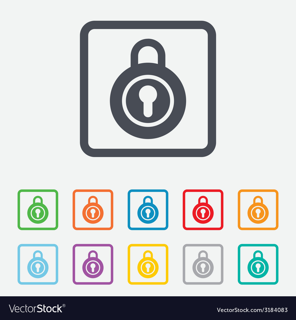Lock sign icon locker symbol vector | Price: 1 Credit (USD $1)