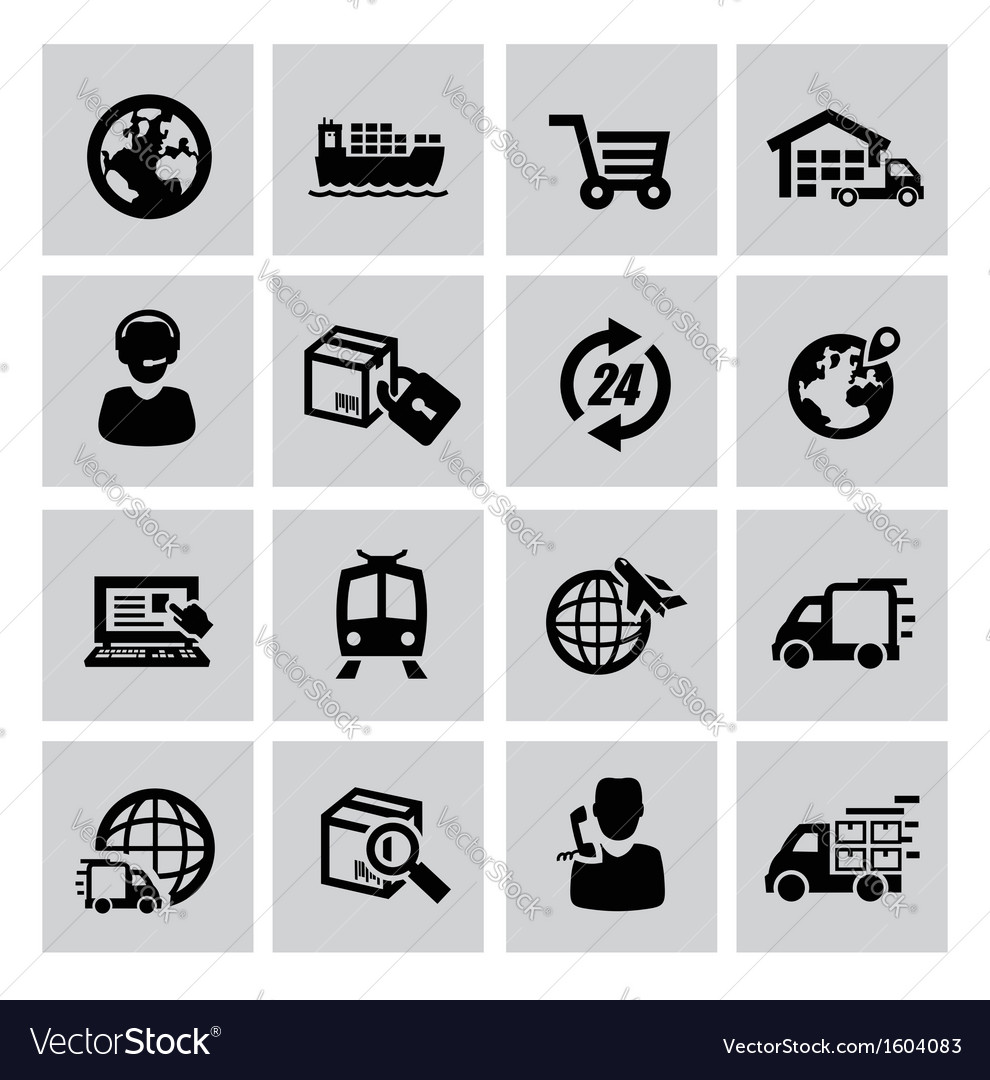 Logistic and shipping icon vector | Price: 1 Credit (USD $1)