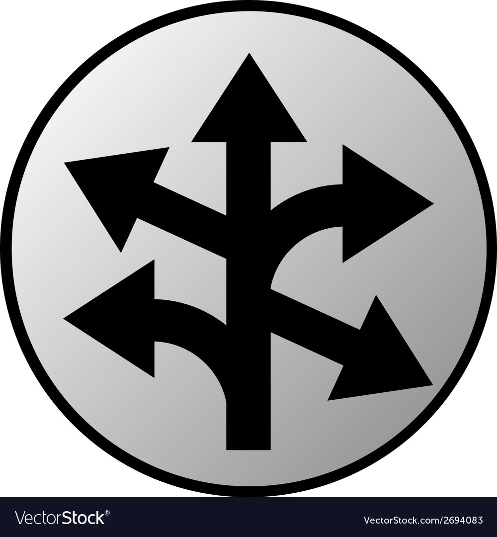 Straight left and right arrow button vector | Price: 1 Credit (USD $1)