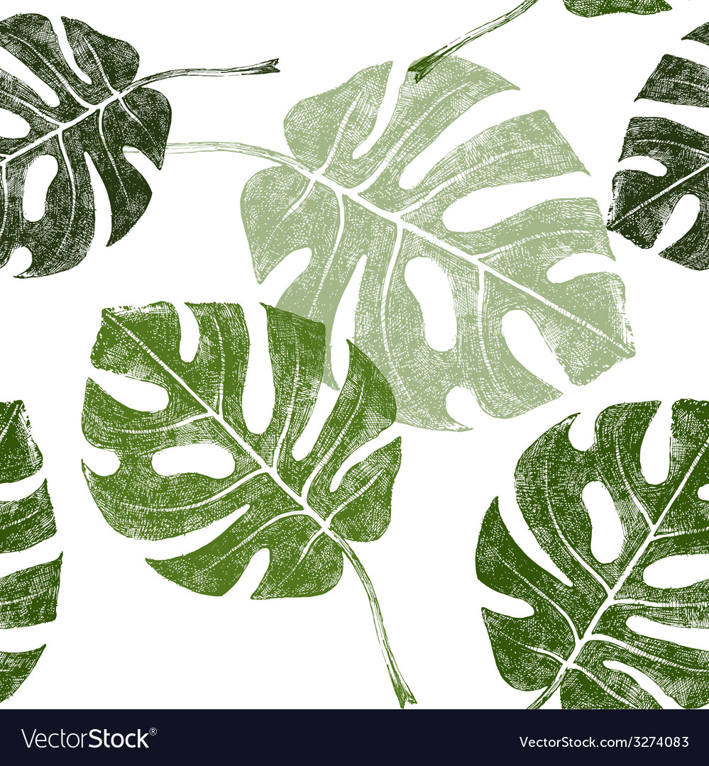 Tropical leaves seamless vector | Price: 1 Credit (USD $1)