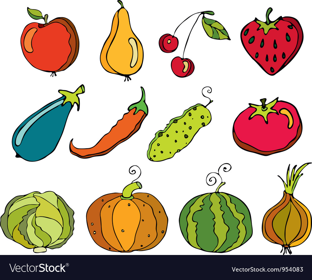 Vegetables fruit vector | Price: 3 Credit (USD $3)