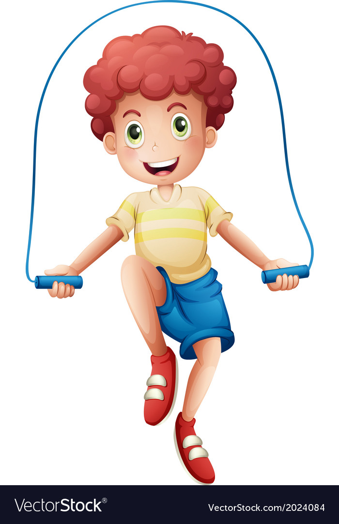 A boy playing with the rope vector | Price: 1 Credit (USD $1)