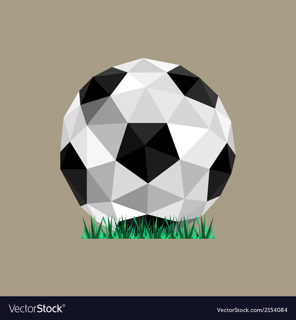 Abstract paper origami soccer ball vector | Price: 1 Credit (USD $1)