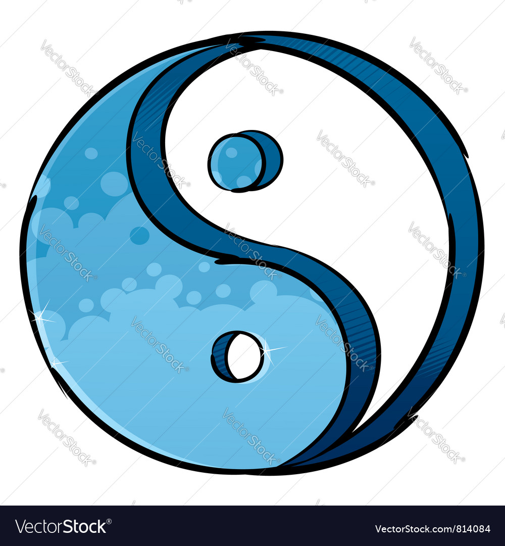 Artistic yin-yang symbol vector | Price: 1 Credit (USD $1)