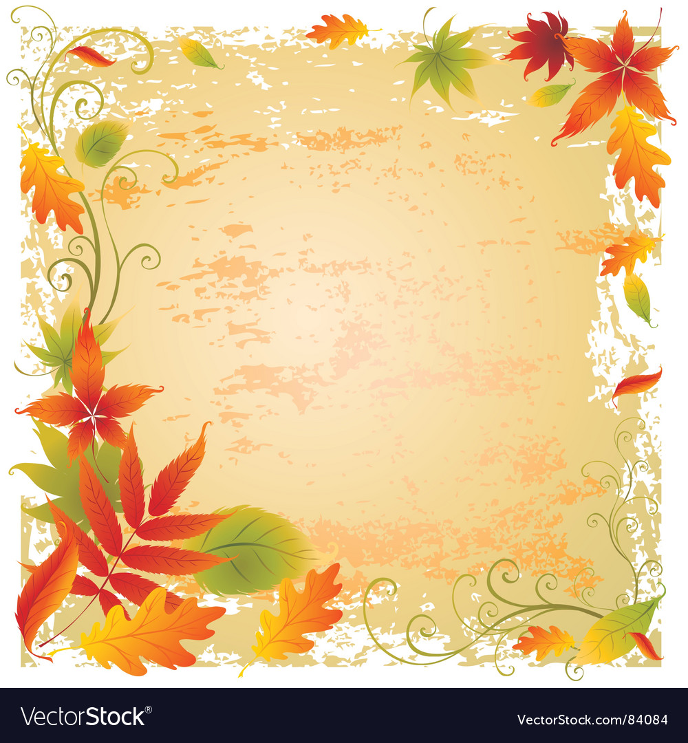 Background with colorful autumn leaves vector | Price: 1 Credit (USD $1)