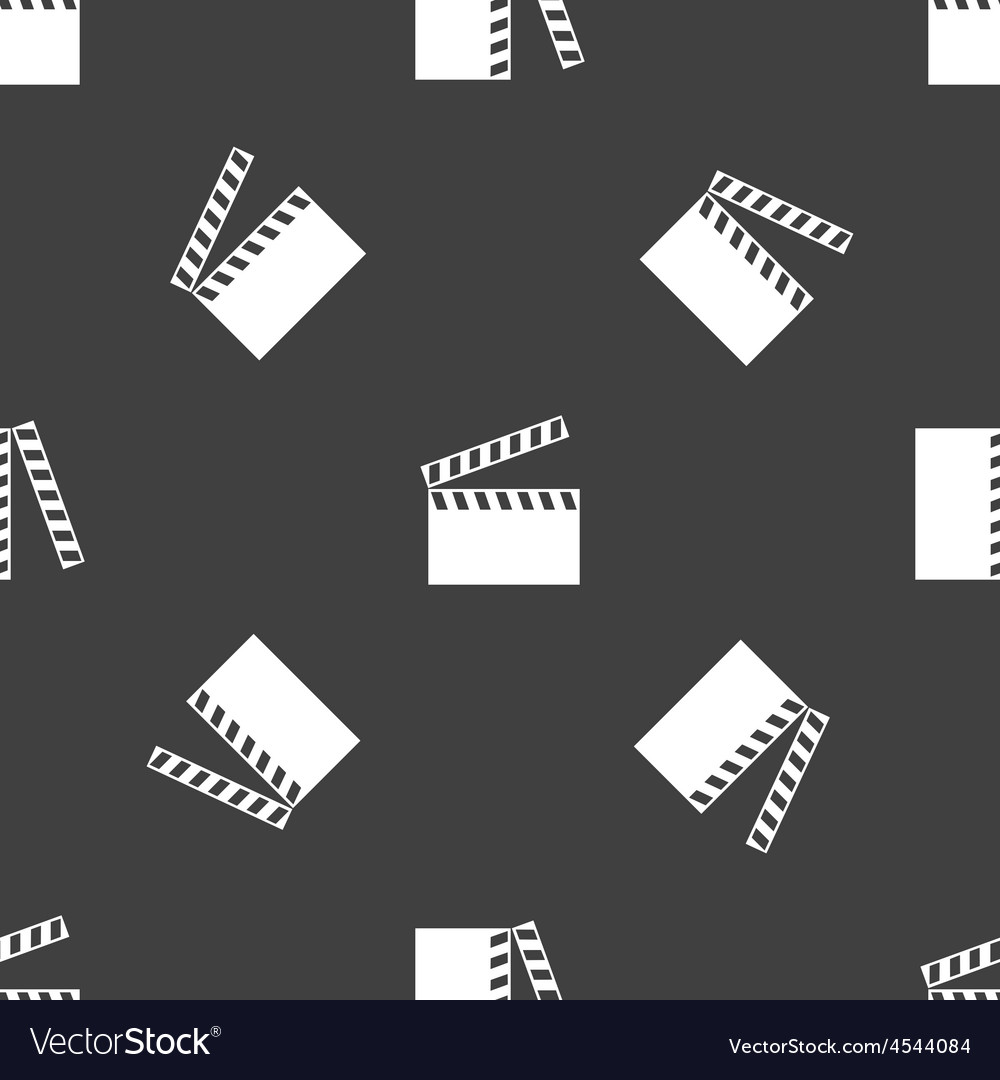 Clapperboard pattern vector   Price: 1 Credit (USD $1)