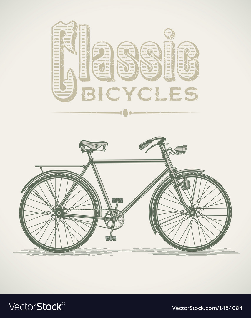Classic gentlemans bicycle vector | Price: 1 Credit (USD $1)