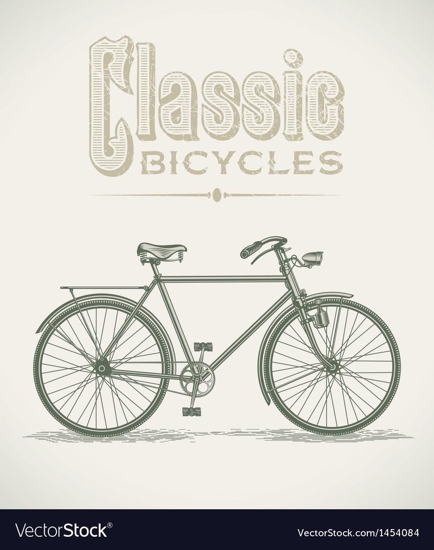 Classic gentlemans bicycle vector | Price: 1 Credit (USD $1)
