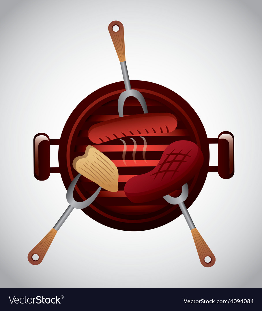 Delicious barbecue barbeque vector | Price: 1 Credit (USD $1)
