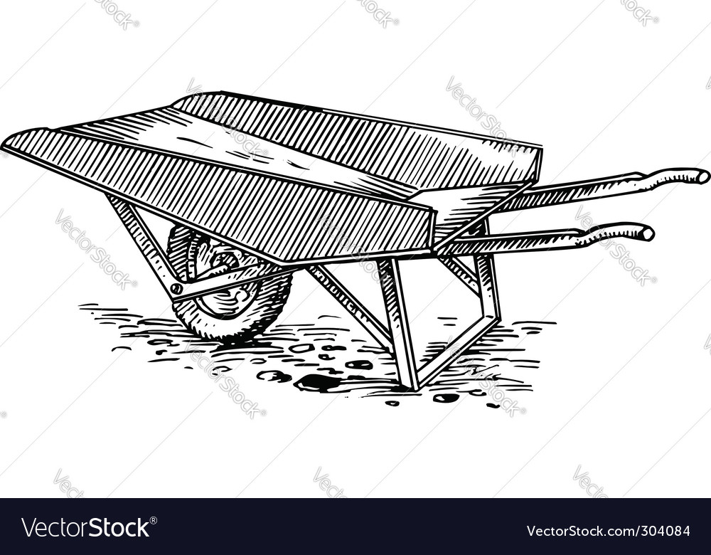 Garden cart vector | Price: 1 Credit (USD $1)
