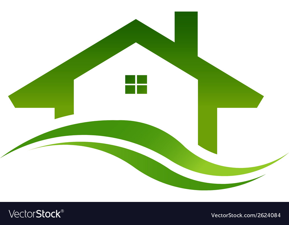Green house real estate logo image vector | Price: 1 Credit (USD $1)