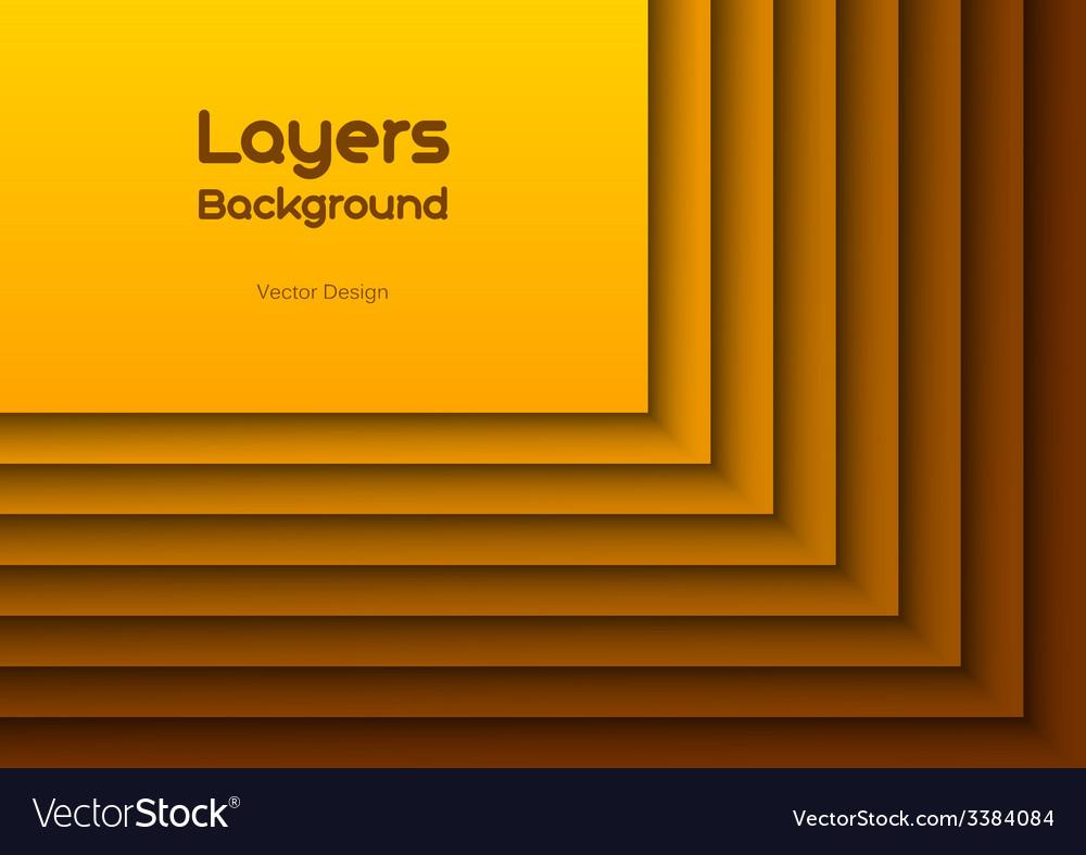 Orange layeres vector | Price: 1 Credit (USD $1)