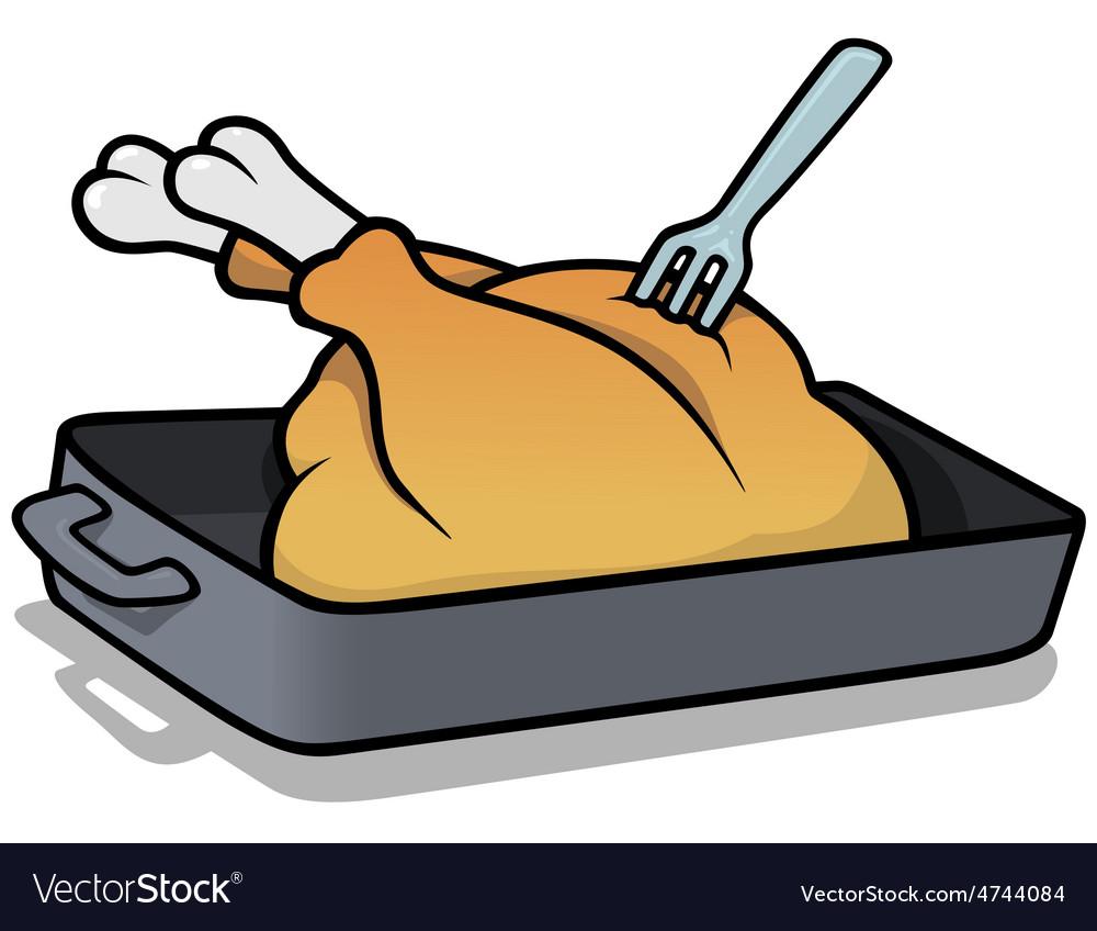 Roast turkey vector | Price: 1 Credit (USD $1)