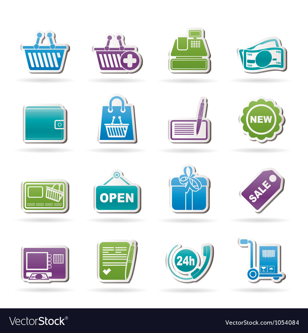 Shopping and retail icons vector | Price: 1 Credit (USD $1)