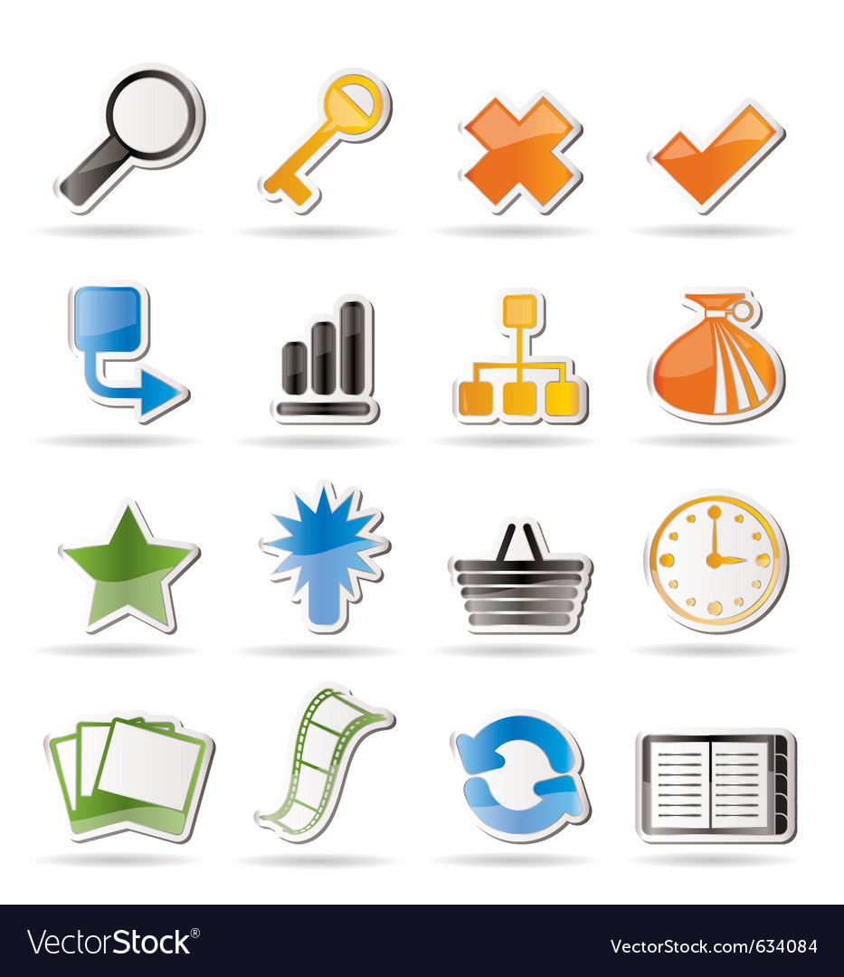 Simple internet and web site icons vector | Price: 1 Credit (USD $1)