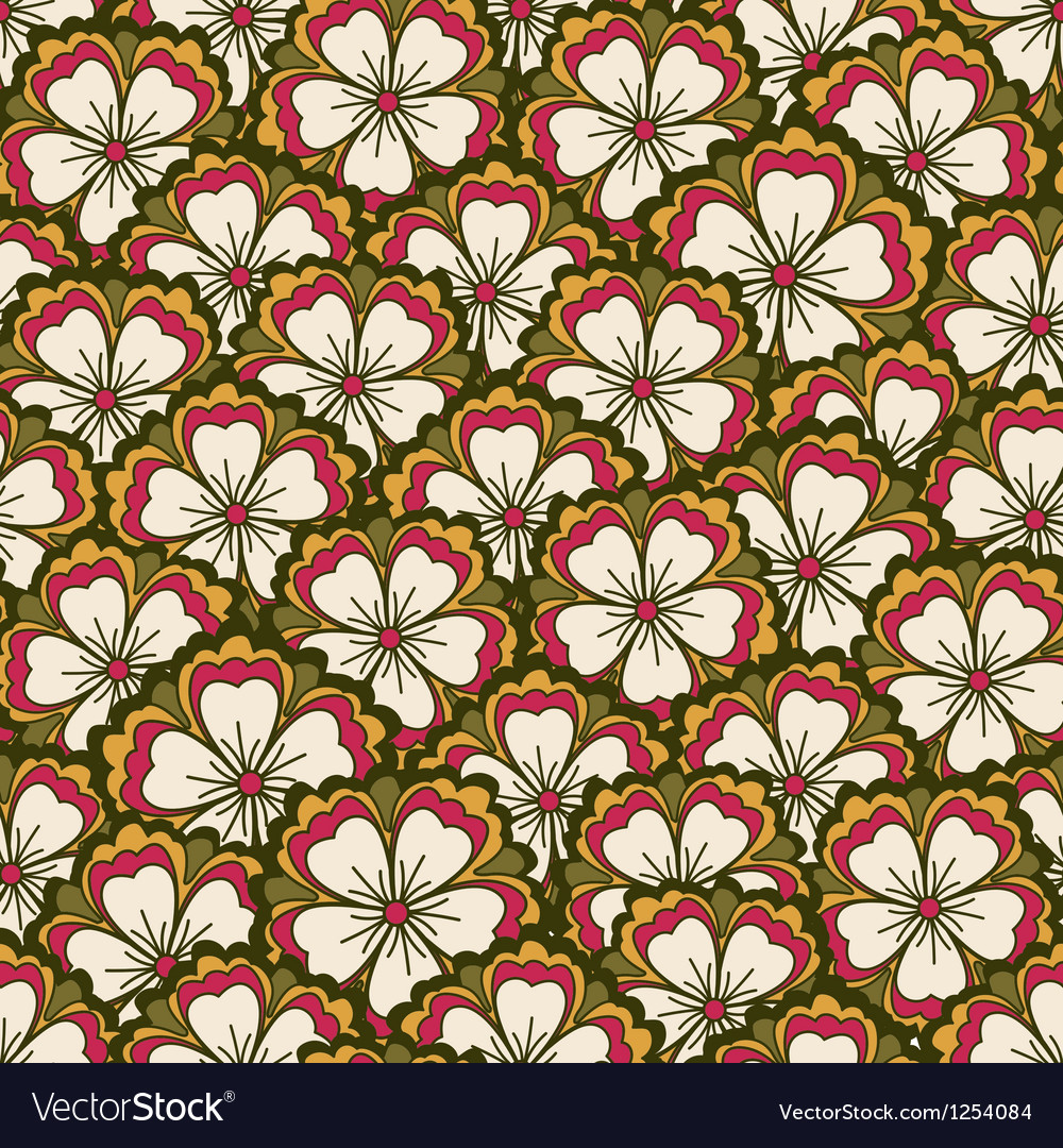 Spring flower pattern vector | Price: 1 Credit (USD $1)