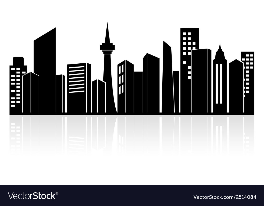 Urban landscape or city skyline vector | Price: 1 Credit (USD $1)
