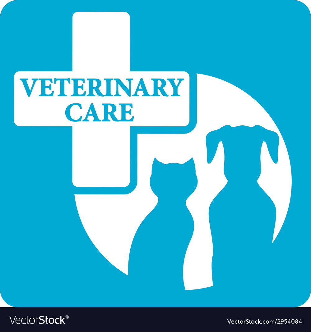 Veterinariry care icon with dog and cat vector | Price: 1 Credit (USD $1)