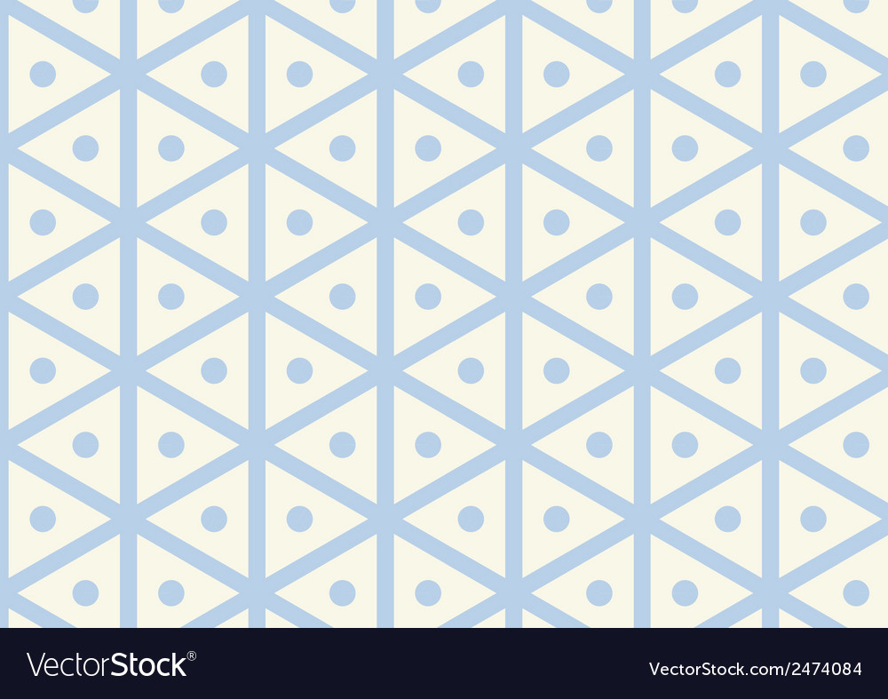 Vintage hexagon and circle pattern on pastel color vector | Price: 1 Credit (USD $1)