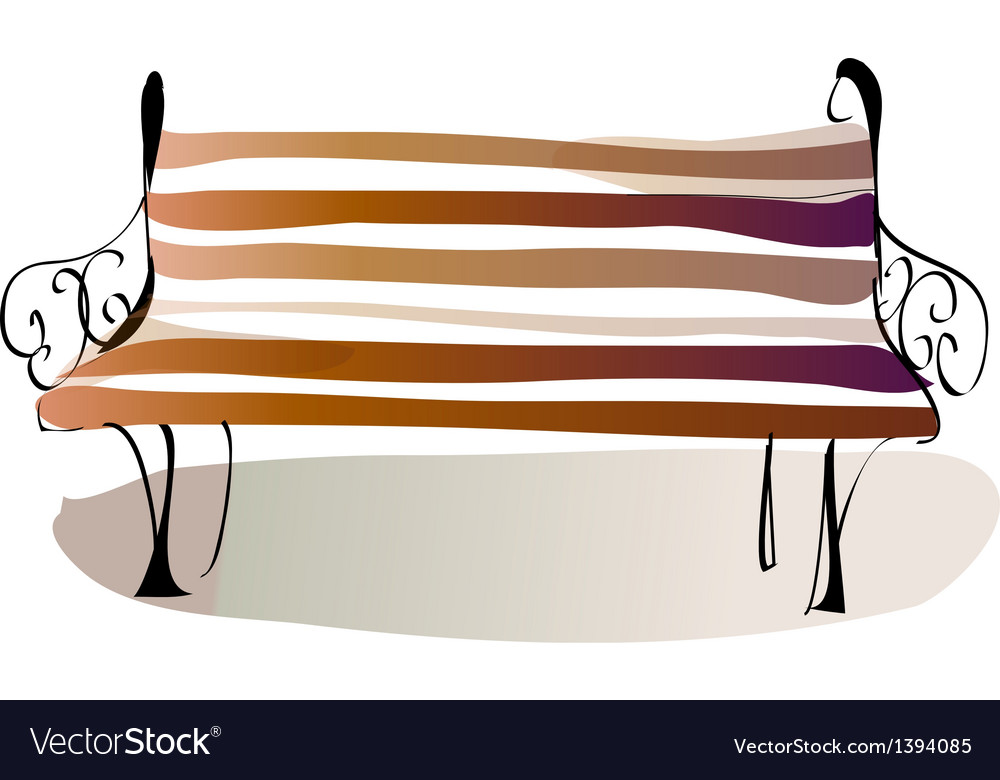 A bench vector   Price: 1 Credit (USD $1)