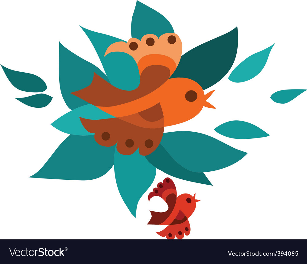 Abstract birds background vector | Price: 1 Credit (USD $1)