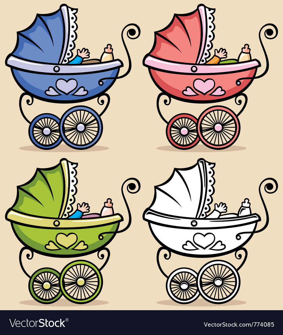 Baby stroller vector | Price: 3 Credit (USD $3)