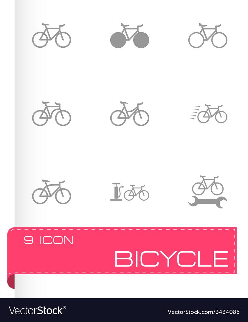 Black bicycle icon set vector | Price: 1 Credit (USD $1)