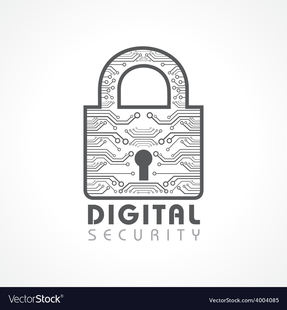 Digital security concept vector | Price: 1 Credit (USD $1)