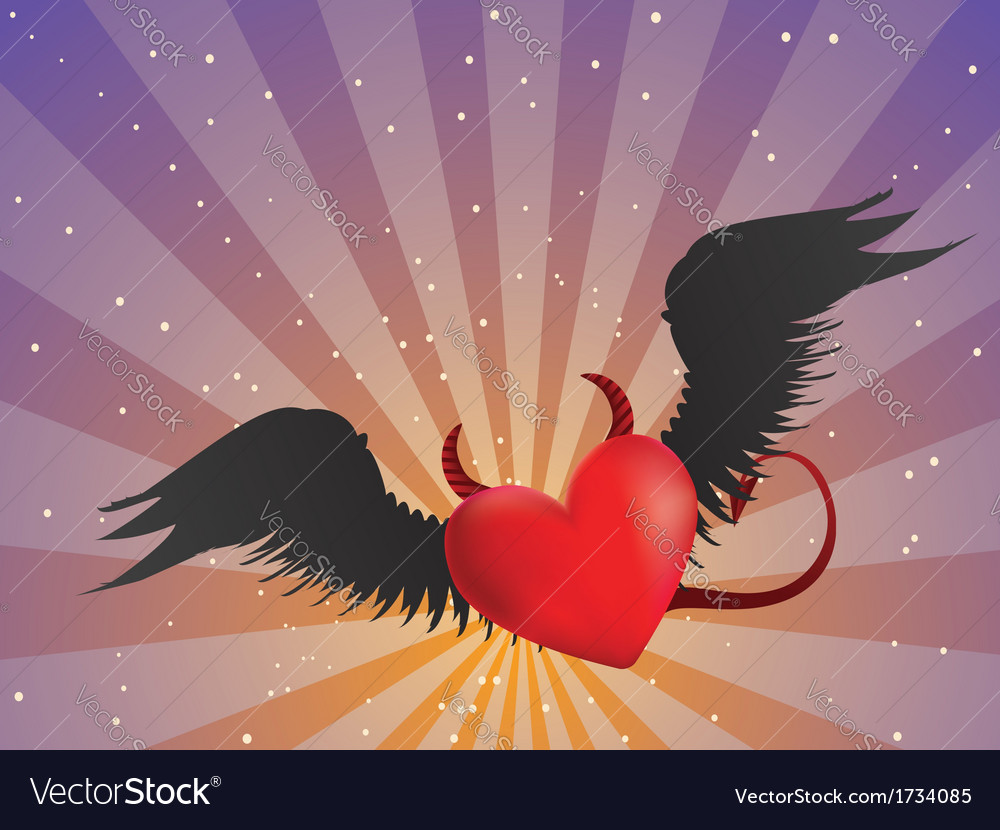 Evil heart vector | Price: 1 Credit (USD $1)