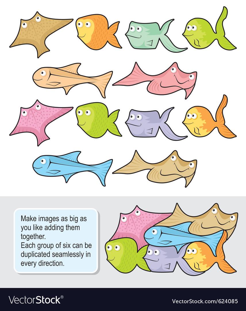 Fish cartoons vector