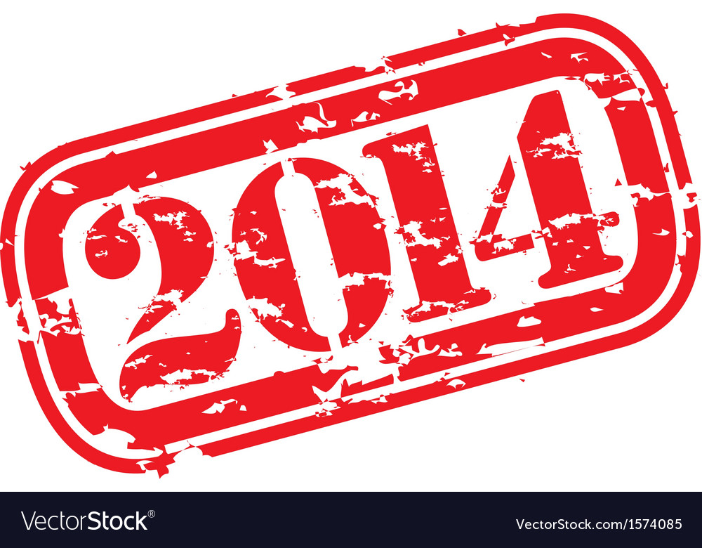 Grunge happy new 2014 year rubber stamp vector   Price: 1 Credit (USD $1)
